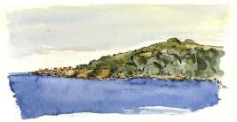 Gudhjem, Bornholm, Denmark. Watercolor