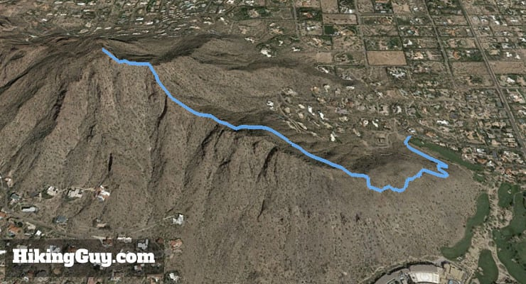 Echo canyon is shorter, but still an extremely difficult hike. Camelback Mountain Hike Cholla Trail Hikingguy Com