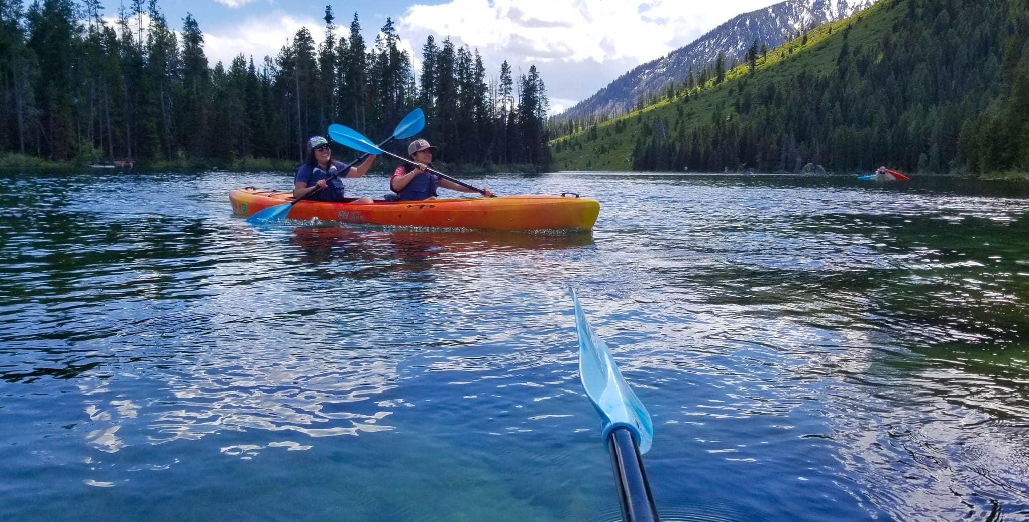 Kayaking String Lake in June
