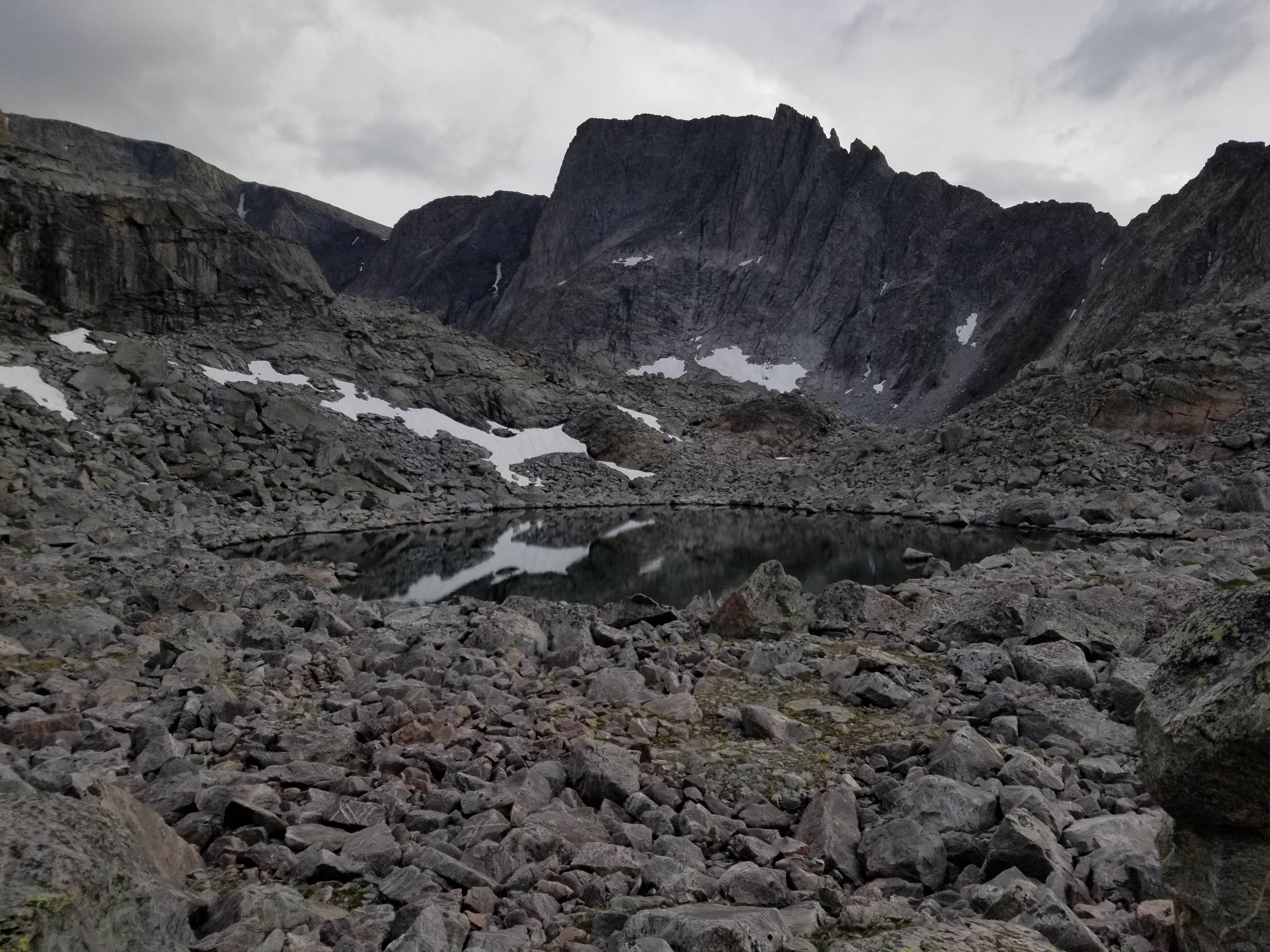 Birthday Lakes or Pouch Lakes, Wyoming in the Cloud Peak Wilderness in the Bighorn Mountains