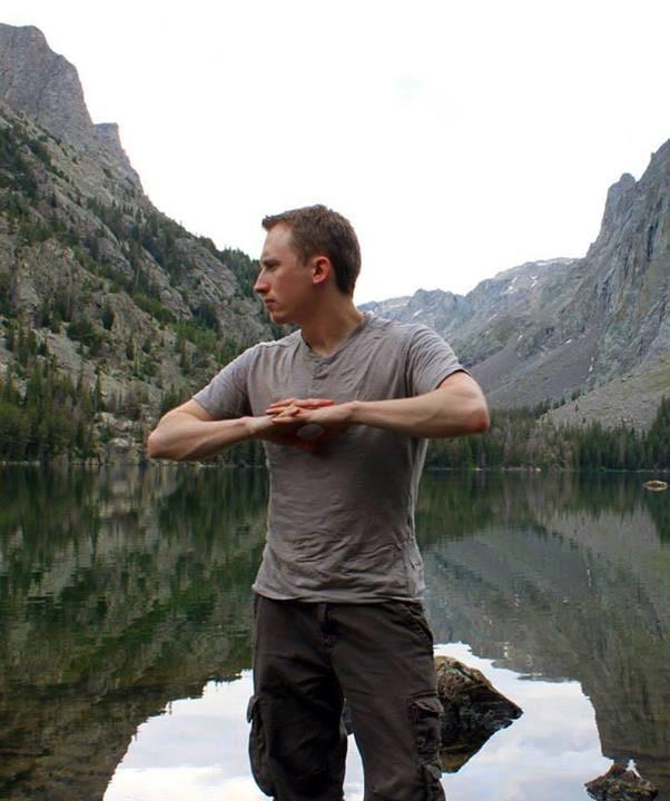 Lucas Necessary at Slide Lake in Wyoming