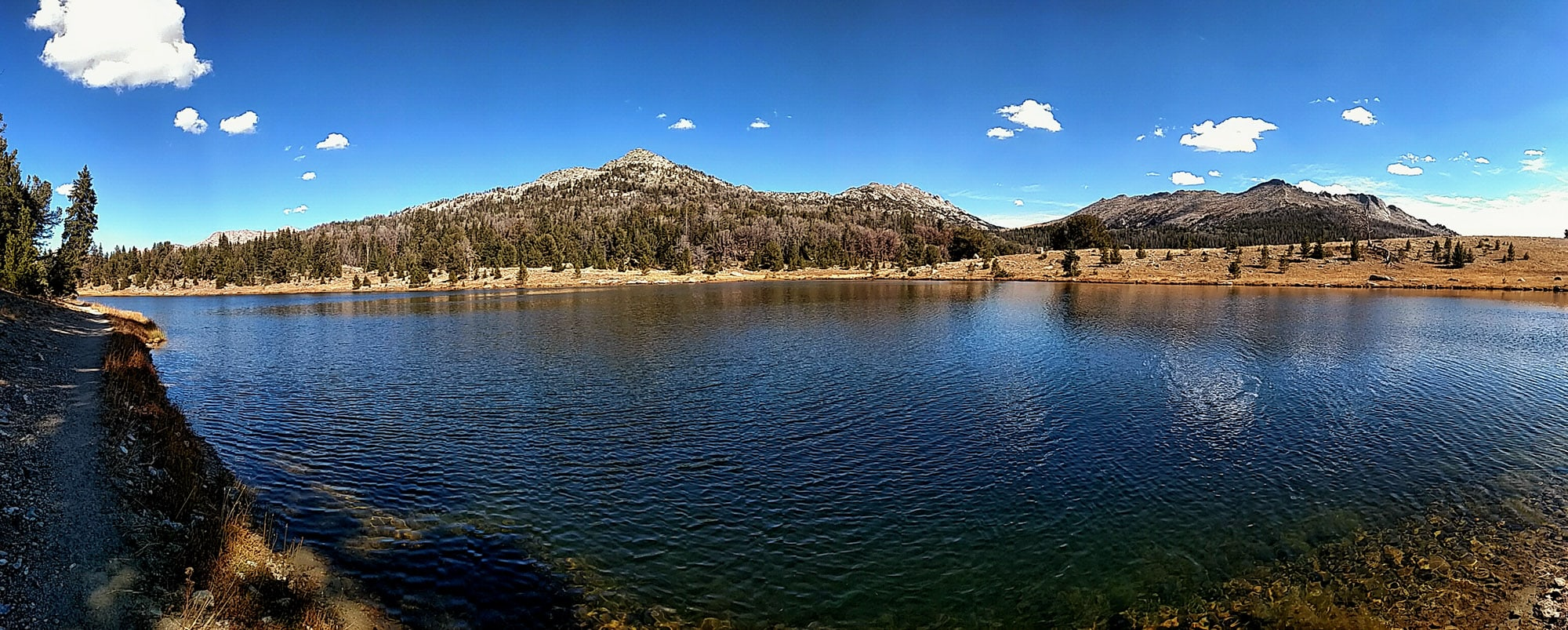Mirror Lake, Wyoming in fall