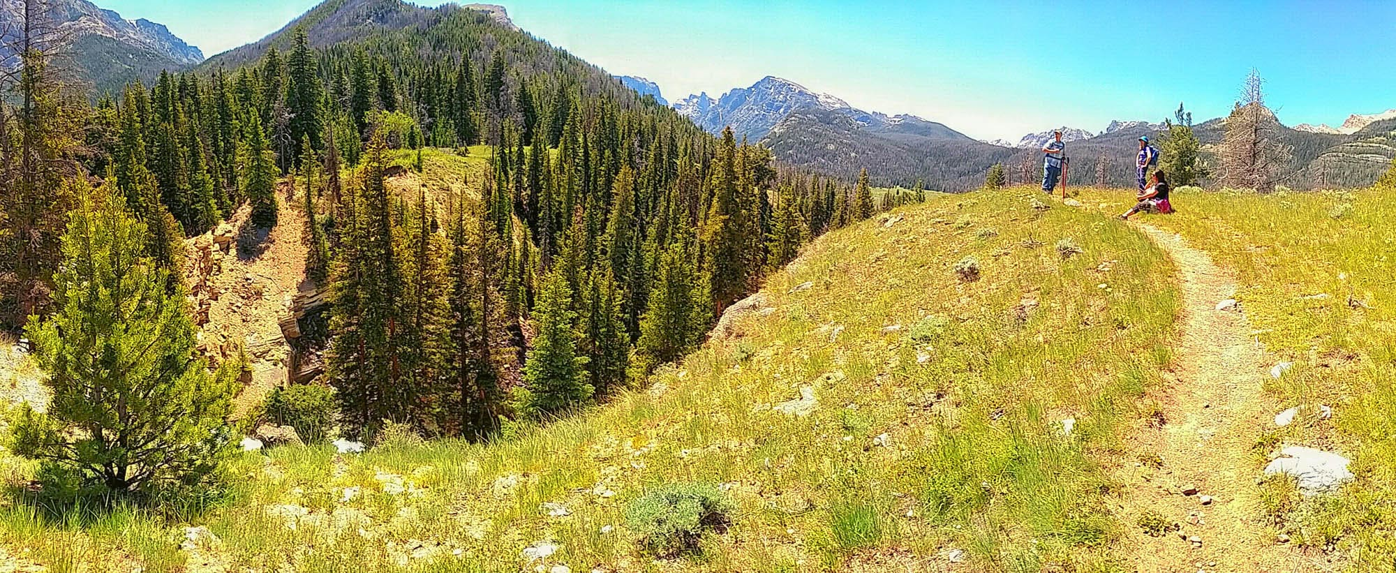 Clear Creek trail in Wyoming