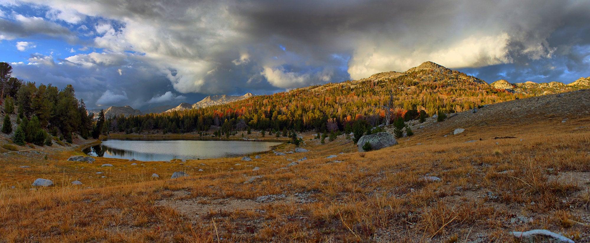 Mirror Lake, Wyoming, in the fall.