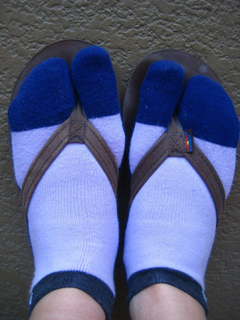Socks For Flip Flops Hiking Lady