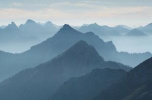 mountain ridgeline