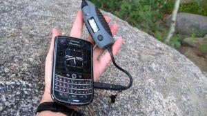 Powermonkey charging my blackberry