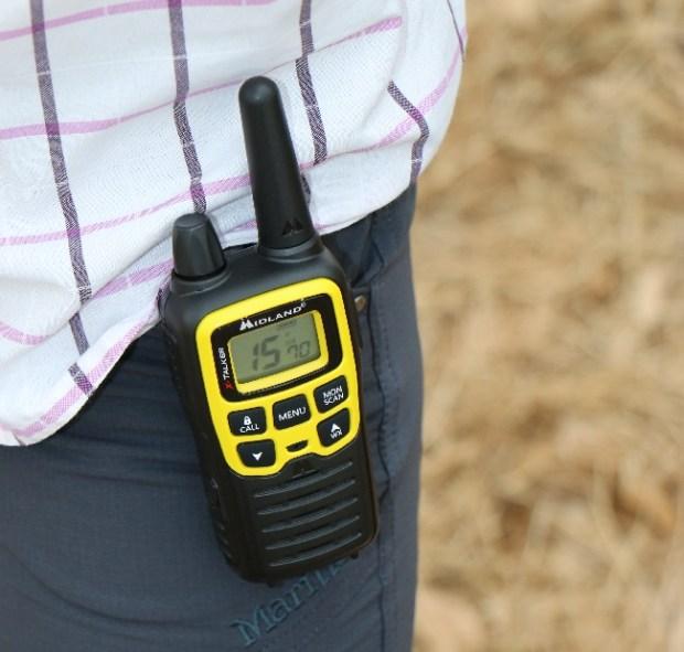 Midland X-Talker T61VP3 Radio on hip