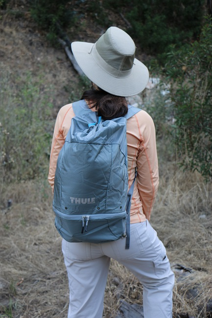 Wearing the Thule Guidepost Summit Sack