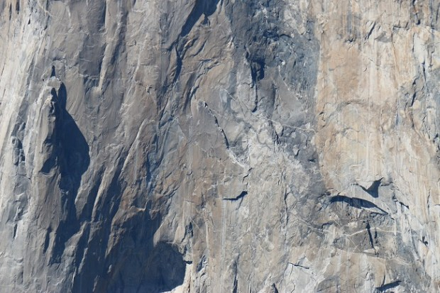View of the famous flake on El Capitan from Taft Point
