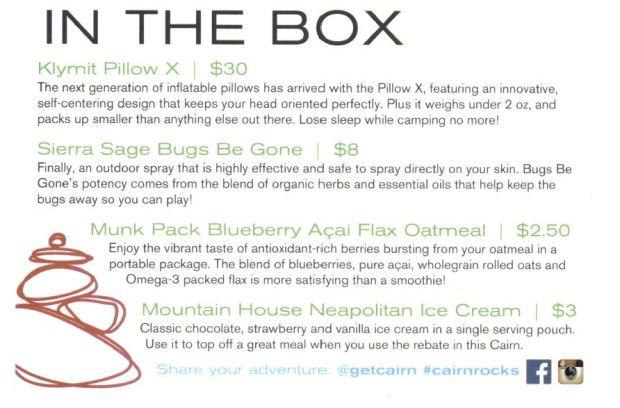 Cairn Box Summary