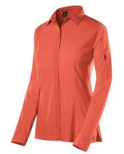 Sierra Designs Womens Long Sleeve Solar Wind Shirt coral