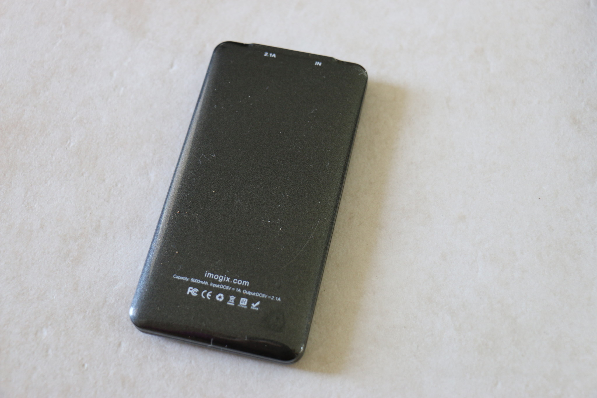 Mogix Portable Charger - back view