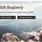 My Registry REI homepage