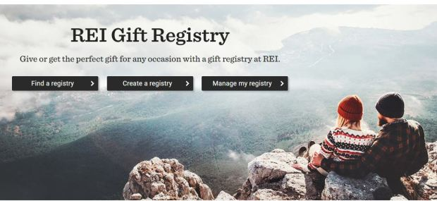My Registry REI homepage