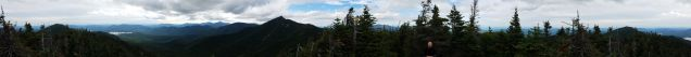 360-degree panoramic from the top of Hough Mountain: Macomb is on the left, and the Beckhorn is in the middle ...
