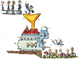 drawing of a transformator machine getting people outdoors