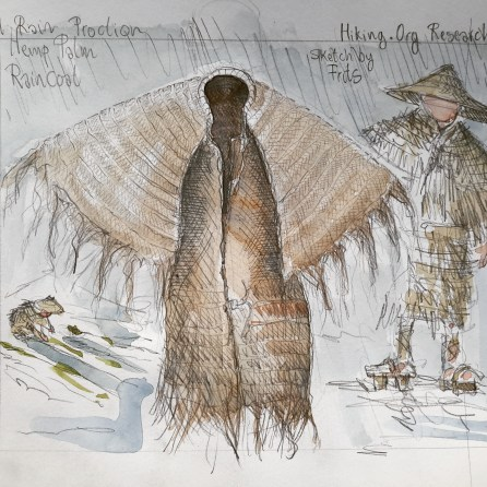 Traditional hemp clothing illustration