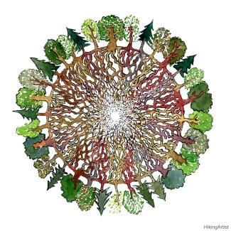 Wood-wide-web-tree-social-network