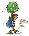 girl-walking-with-happy-tree-to-greening-village-illustration-by-frits-ahlefeldt