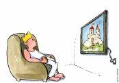 king-watching-tv