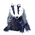 Badger watercolor