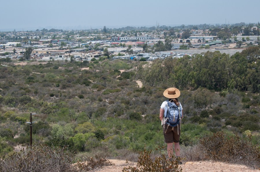 The view overlooking Otay Valley Regional Park