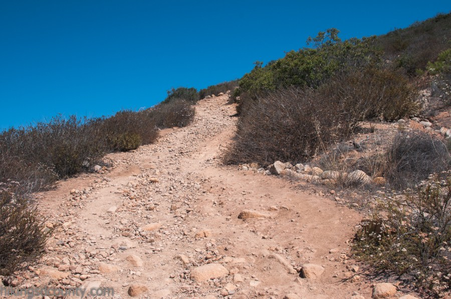 The rocky slop of the North Fortuna Summit trail