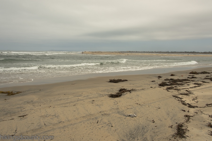 The Tijuana River meets the Pacific Ocean at Border Field State Park