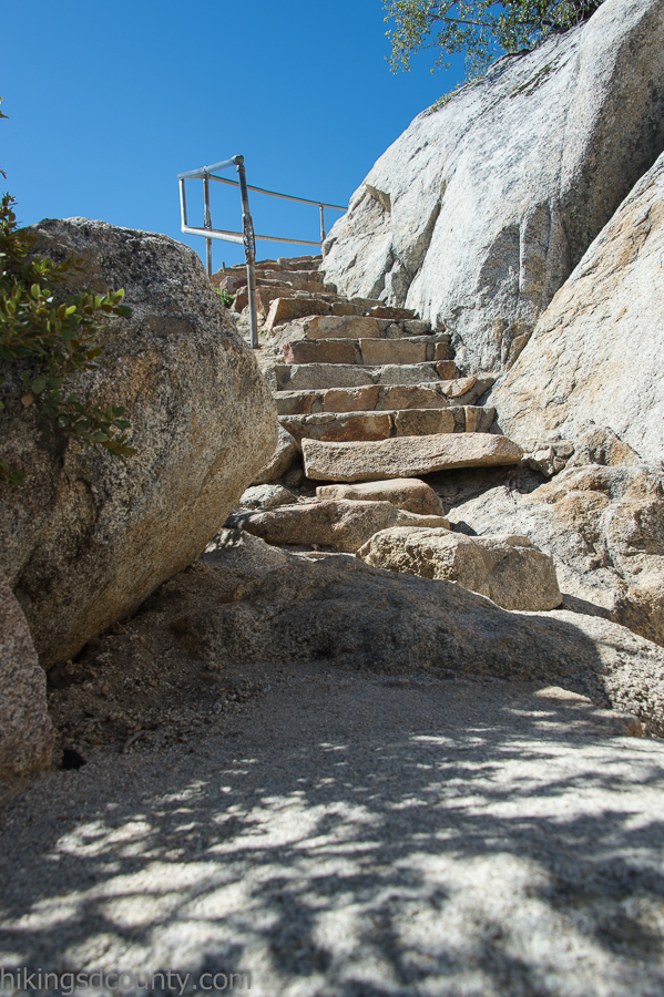 The stairs at Stonewall Peak
