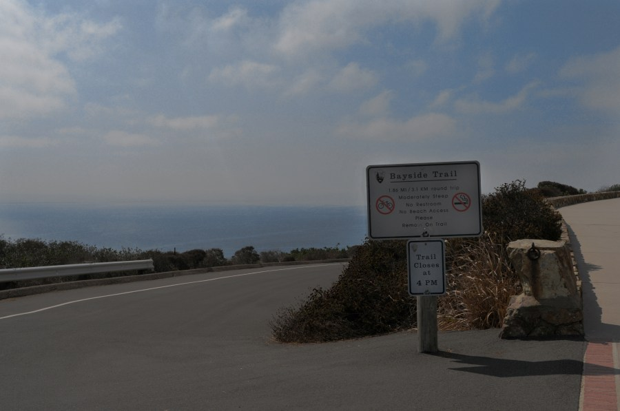 Start of the Bayside Trail at Cabrillo National Monument