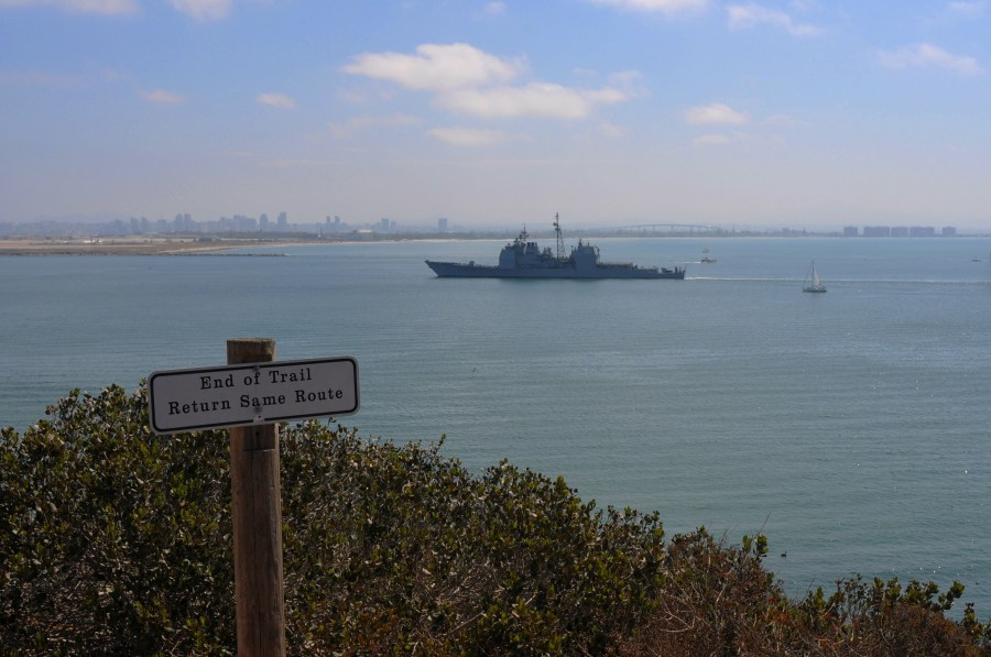 At the end of the Bayside Trail at Cabrillo National Monument