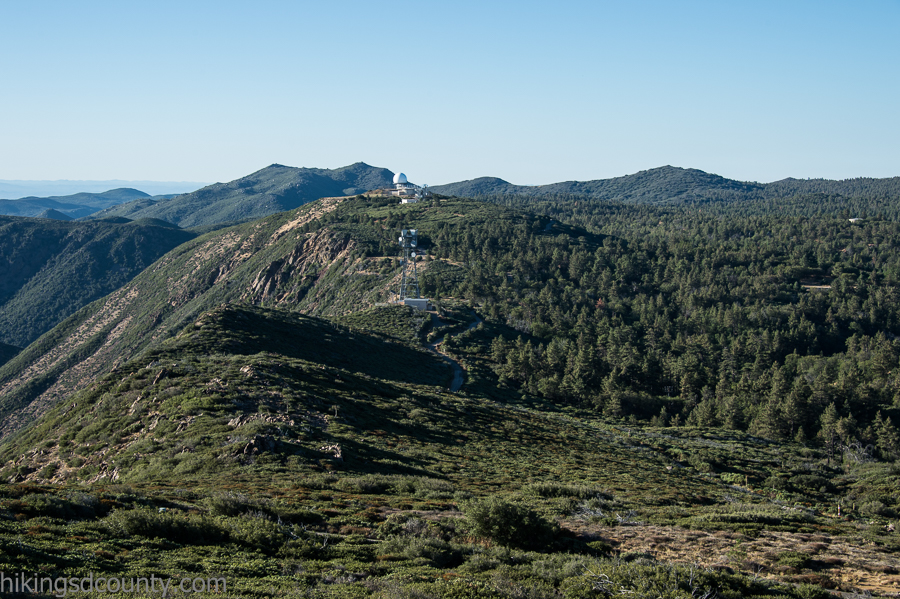 View of Laguna Observatory from Monument Peak