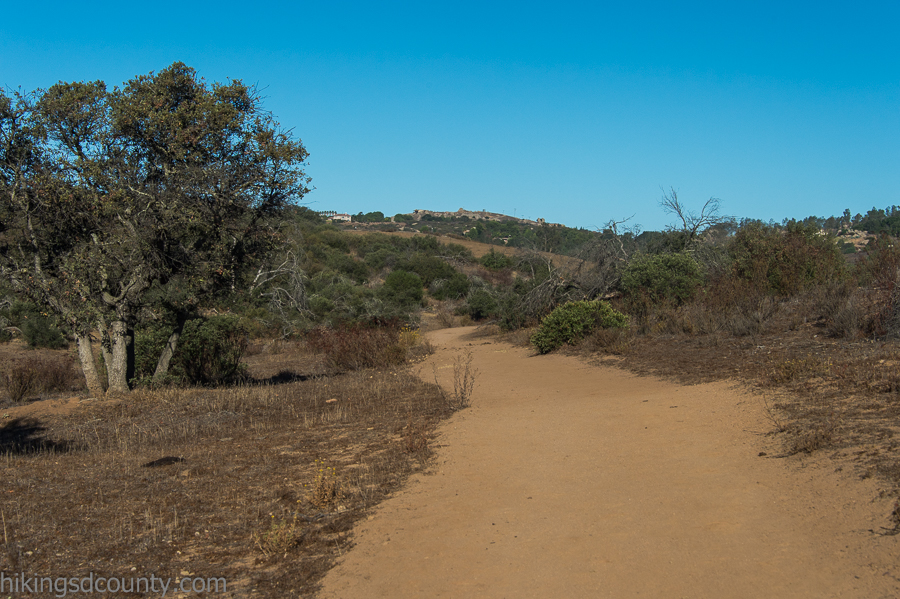 Hiking the trail at Ramona Grasslands