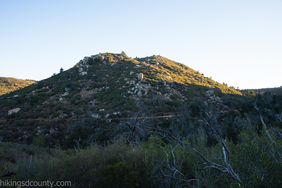 An unnamed peak above the East Mesa Fire Road