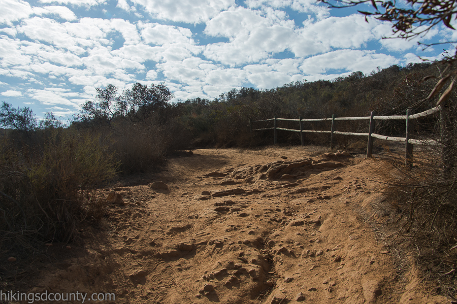 Switchbacks wind up the rocky trail
