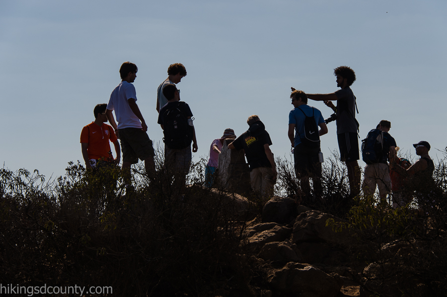 Hikers enjoy the Cowles Mountain summit