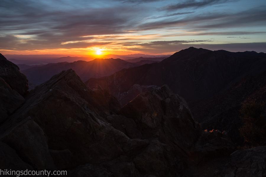 Sunrise from Garnet Peak
