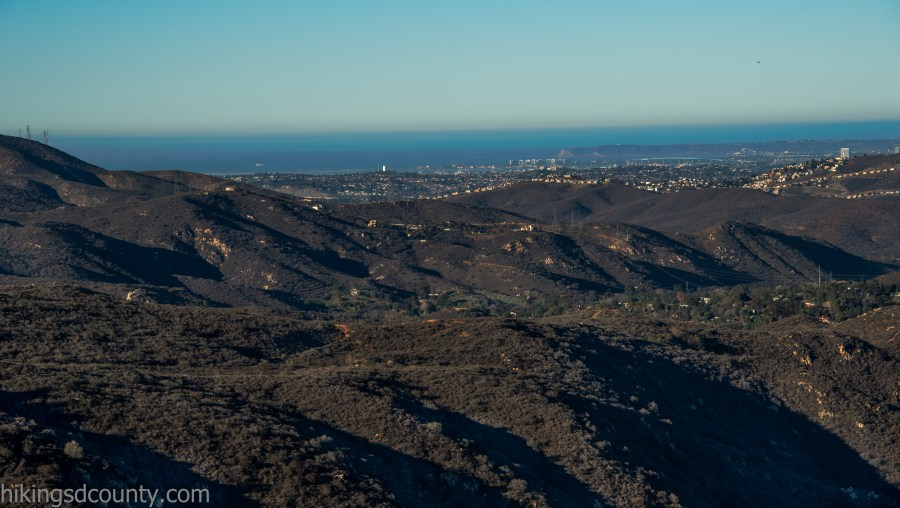 View of Point Loma from the McGinty Mountain trail