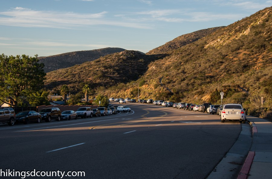 Parking at Cowles Mountain