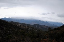 The Huachuca Mountains I left behind.