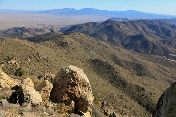 Looking south-east towards Hualapai Peak