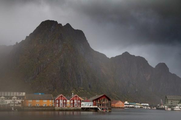 Fløya behind the town of Svolvaer