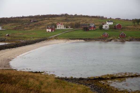 Valbukta bay and road to Holdøya