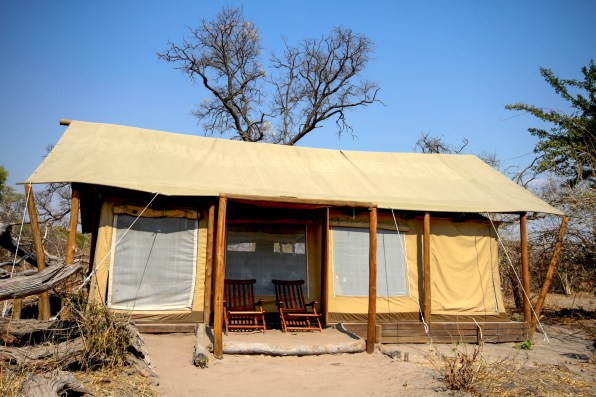 Our hut at Linyante Camp