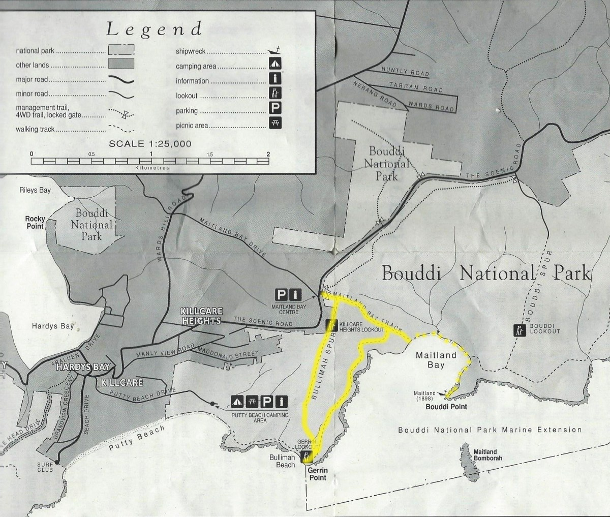 Map-BouddiNationalPark-BullimahSpurCircuit