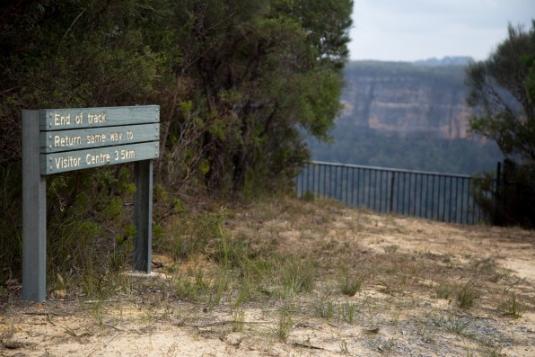 The start (or end) of the Fitzroy Falls east rim track