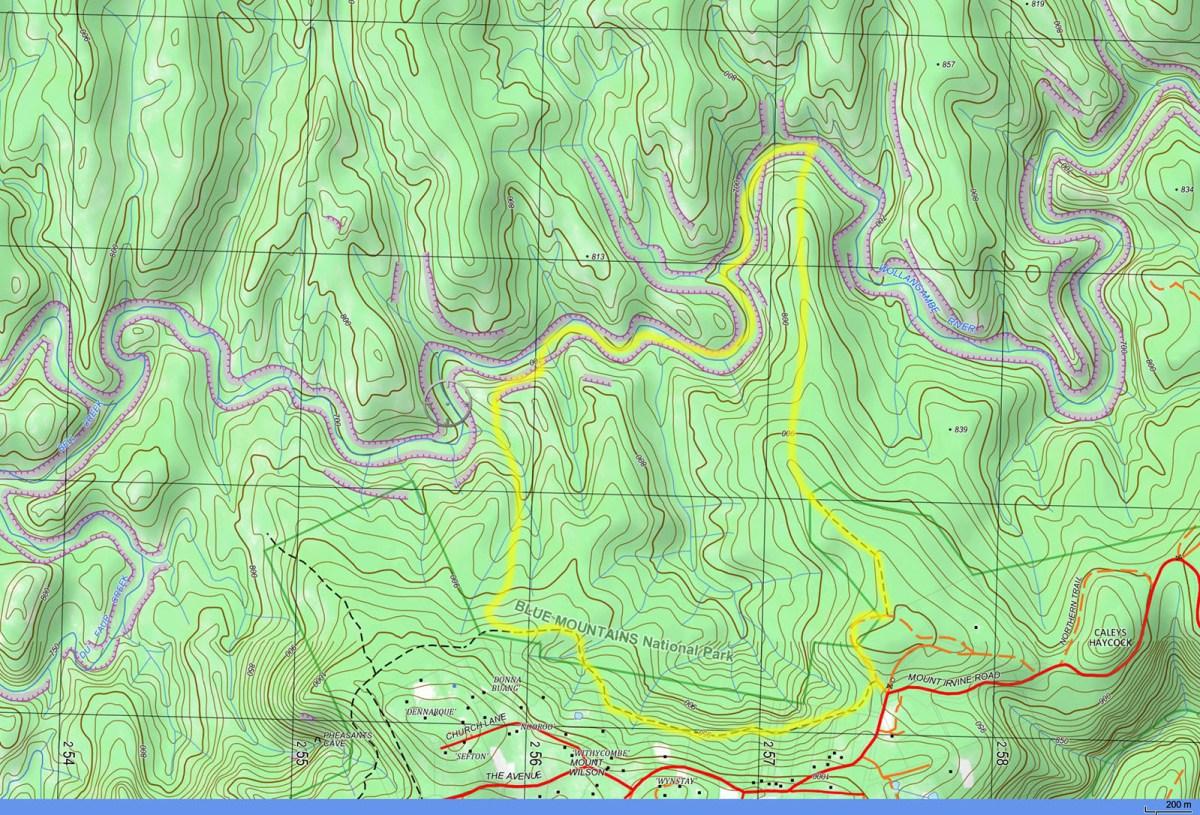 Map-Wollangambe-LowerSection