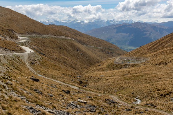 Mount Aspiring range in the distance, from The Remarkables