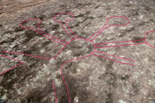 Large anthropomorphic figure at Mooney Mooney Aboriginal Area